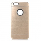 Protective Plastic + Aluminum Alloy Back Case Cover for IPHONE 6 - Champagne Gold