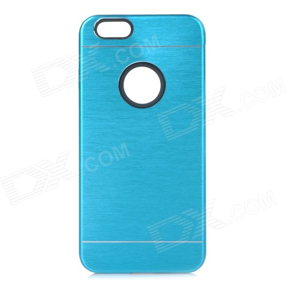 Protective Plastic + Aluminum Alloy Back Case Cover for IPHONE 6 - Blue water drops style protective plastic back case for iphone 4 blue