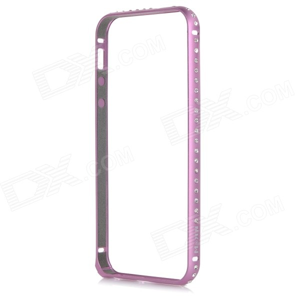 Protective Rhinstone Studded Aluminum Alloy Bumper Frame Case w/ Lock Catch for IPHONE 5 / 5S - Pink protective aluminium alloy bumper frame for iphone 5 5s champagne