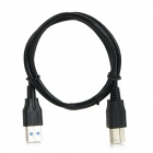 High Speed USB 3.0 B-Type to Micro USB Print Connection Transmission HDD Data Cable - Black