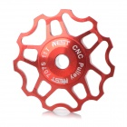 AEST YPU09A14 Bike Bicycle Ultra Light 11T Aluminum Alloy Wheels Rear Derailleur Pulley - Red
