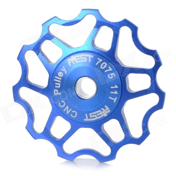 AEST YPU09A14 Bike Bicycle Ultra Light 11T Aluminum Alloy Wheels Rear Derailleur Pulley - Blue gineyea aluminum alloy bike seatpost clamp blue