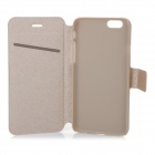 "Protective Flip-Open PU Case Cover w/ Stand + Card Slot for IPHONE 6 4.7"" - Golden"