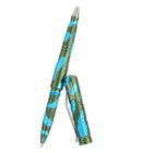 LAIX B007W Clip-on Tungsten Steel + Aluminum Alloy Outdoor Self-Defense Tactical Pen - Blue + Green