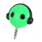 Ucontrol Mini IR Remote Control w/ 3.5mm Jack for TV / Air Conditioner / Set-top Box - Green
