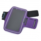 "Sunshine Protective PVC + Nylon Velcro Sports Armband Pouch Case for IPHONE 6 PLUS 5.5"" - Purple"