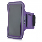 "Sunshine Protective PVC + Nylon Velcro Sports Armband Pouch Case for IPHONE 6 4.7"" - Purple"