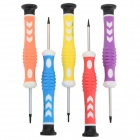 Universal Mobile Phone / Tablet PC Repair Screwdrivers Set - Silver + White + Multi-Color (5 PCS)