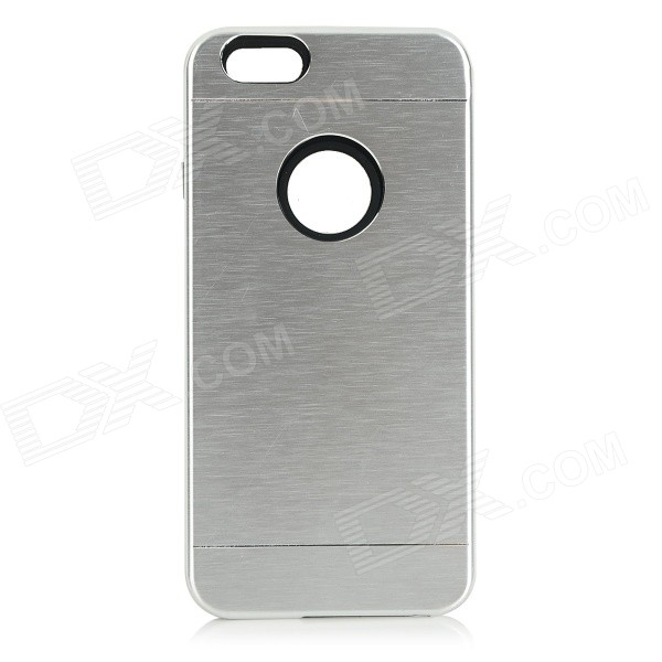 Protective Plastic + Aluminum Alloy Back Case Cover for IPHONE 6 - Silver