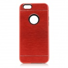 Protective Plastic + Aluminum Alloy Back Case Cover for IPHONE 6 - Red