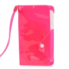 "OLaDen Universal Water Resistant PVC Case w/ Strap for 5"" Smartphones - Pink"