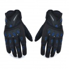 SCOYCO Outdoor Cycling Riding Motorcycle Full-Finger Gloves - Black + Blue (L / Pair)