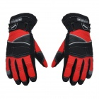 SCOYCO MC15 Motorcycle Full-Finger Warm Gloves - Black + Red (XL / Pair)