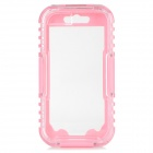 "Funda impermeable IPX8 protector PC + PVC para IPHONE 6 4.7 ""- Pink + Transparente"
