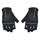 SCOYCO MC25 Motorcycle Racing Outdoor Sports Half-Finger Leather Gloves - Black (L / Pair)