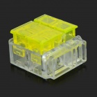 DIY Strip-free Electric Wire Cable Quick Joint / Connector - Yellow + Transparent
