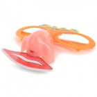 Halloween Funny Glasses w/ 2-LED Nose / Mouth - Orange + Red + Multi-Color (3 x AG10)