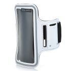 "Sunshine Protective PVC + Nylon Velcro Sports Armband Pouch Case for IPHONE 6 4.7"" - White"