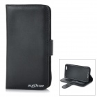 "Protective Flip-Open PU + ABS Case Cover w/ Stand + Card / Money Slots for IPHONE 6 4.7"" - Black"