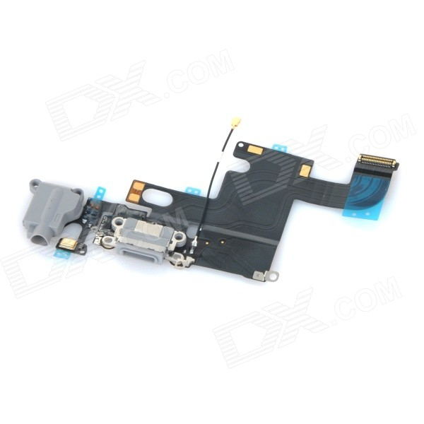 Replacement Charging Tail Plug Connector Flex Cable for IPHONE 6 4.7 - Grey + Black + Multi-colored replacement charging tail plug connector flex cable for iphone 6 4 7 black blue multi colored