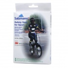 Salzmann 50021 Night Cycling Riding Running Outdoor Sports Reflective Safety Vest - Black