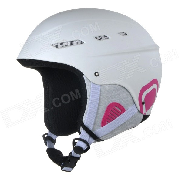 AIDY 218 Outdoor Durable ABS + PE Skiing Helmet - White (M)