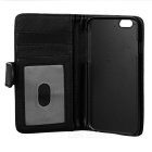 "DULISIMAI Stylish Flip Open PU + PC Case w/ Card Slots for IPHONE 6 4.7"" - Black"