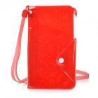 """OLaDen Universal Waterproof PVC Case w/ Strap / Card Slots for 5"""" Smartphones - Red"""