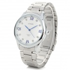 LONGBO Men's Fashion Stainless Steel Band Analog Quartz Wrist Watch - Silver (1 x 377)