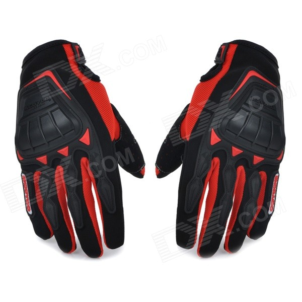 SCOYCO MC08 Motorcycle Full-Finger Anti-slip Gloves - Red + Black (L / Pair) a bear called paddington 2 cd