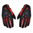 SCOYCO MC08 Motorcycle Full-Finger Anti-slip Gloves - Red + Black (L / Pair)
