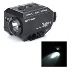 5mW Red Laser Mini Tactical Gun Sight w/ Weaver Mount + 225lm LED Flashlight - Black (1 x CR123A)