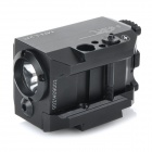 5mW Red Laser Mini Tactical Gun Visão w / Weaver Mount + 225lm lanterna LED - preto (1 x CR123A)