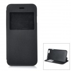 "Protective Flip-open PU + PC Case w/ Stand / View Window for IPHONE 6 4.7"" - Black"