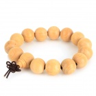 HTXM001 Sandalwood Beads Bracelet - Light Yellow (22cm)