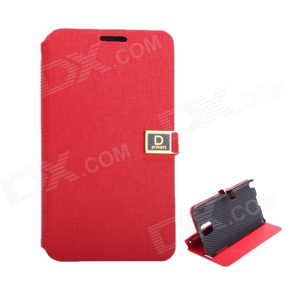 Protective PU Leather Case with Dual Card Slot / Stand for Samsung Note 3 - Red (D Protect) Newport News Покупка б у товаров