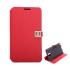 Protective PU Leather Case with Dual Card Slot / Stand for Samsung Note 3 - Red