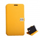 D Protect MSC04 Protective PU Leather Case w/ Dual Card Slots + Stand for Samsung Note 3 - Orange
