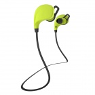 Cannice Muses1 Sports Wireless Bluetooth V4.0 Neckband Headphones w/ Microphone - Green + Black