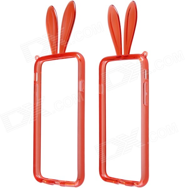 AL01 Lovely Rabbit Ear Style Protective TPU Bumper Frame w/ Strap for IPHONE 6 4.7 - Red firas abdullah thweny al saedi and fadi khalid ibrahim al khalidi design of a three dimensional virtual reality environment