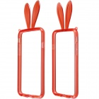 "AL01 Lovely Rabbit Ear Style Protective TPU Bumper Frame w/ Strap for IPHONE 6 4.7"" - Red"