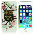 "DF-026 Owl + Flower Pattern Protective TPU Case for IPHONE 6 4.7"" - Multicolored"