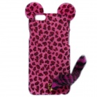 "HW01 Leopard Pattern Protective Plastic Back Case w/ Tail for IPHONE 6 4.7"" - Rose"