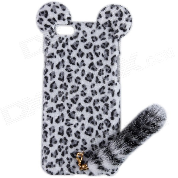 все цены на  HW01 Leopard Pattern Protective Plastic Back Case w/ Tail for IPHONE 6 4.7