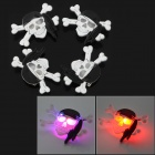 Halloween pirata decorativa em forma de LED Broches estojo - preto + Branco (4 PCS / 3 x LR41)