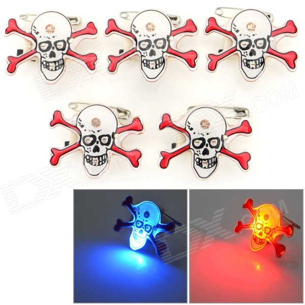 Halloween Decorative Pirate Shaped LED Brooches Set - White + Red (5 PCS / 3 x LR41) bmbe табурет pirate