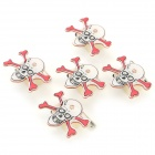 Halloween Decorative Pirate Shaped LED Brooches Set - White + Red (5 PCS / 3 x LR41)