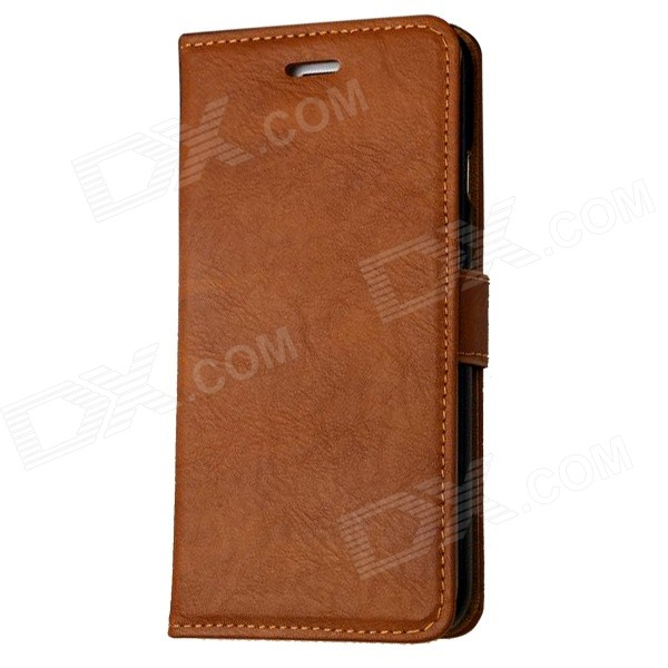 Mr.northjoe Protective PU Case w/ Stand / Card Slot for IPHONE 6 PLUS 5.5 - Brown stand leather case for iphone 6 plus 6s plus 5 5 inch with card slot dark blue