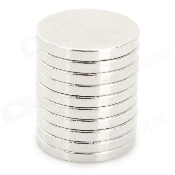N38 15 x 1.9mm Round Shaped NdFeB Magnets - Silver (10 PCS)