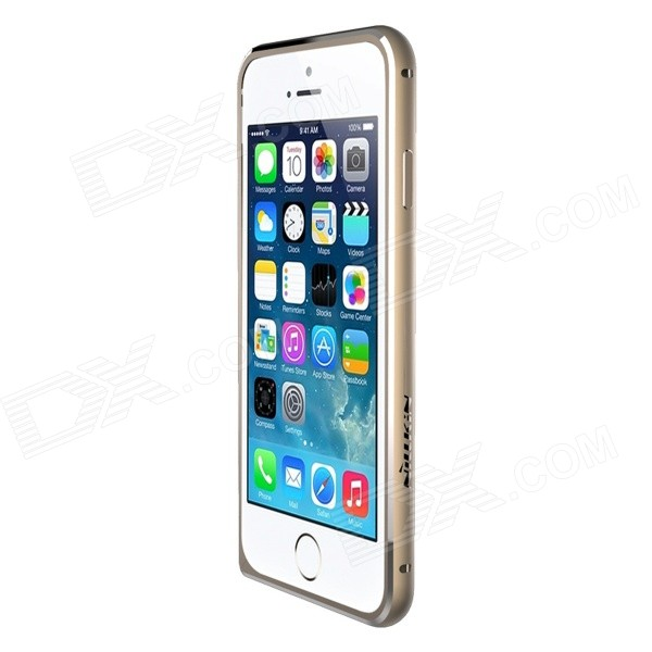 NILLKIN Gothic Series Ultra-Slim Aluminum Alloy Bumper Frame Case for IPHONE 6 - Gold nillkin gothic series ultra slim aluminum alloy bumper frame case for iphone 6 silver